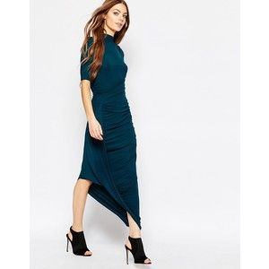 Selected Drape Maxi Dress in Teal