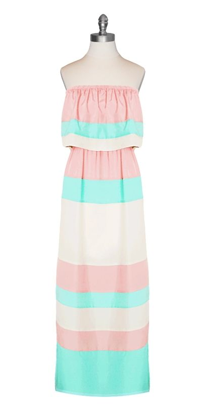 Pastel Flutter Top Maxi Dress from Ark & Co