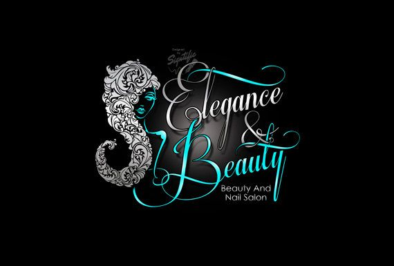 Beauty and Nail Salon Logo Custom Business by SigntificDesigns