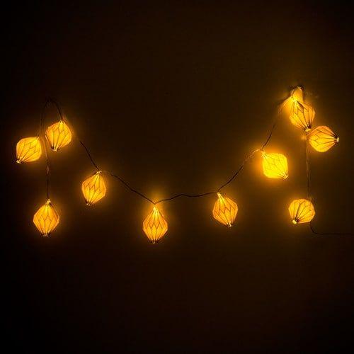 Guirlande lumineuse en papier blanche L 165 cm ORIGAMI