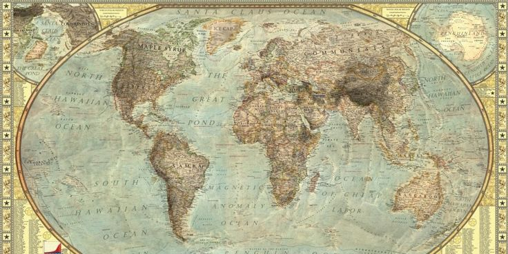 One Map Shows The Entire World In Stereotypes (Sparkling Vampires, for example)