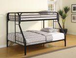 Metal Bunk Beds - Fordham Black Twin Over Full Metal Bunk Bed