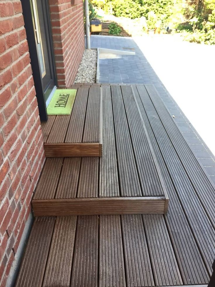 External staircase for the entrance – build stairs yourself