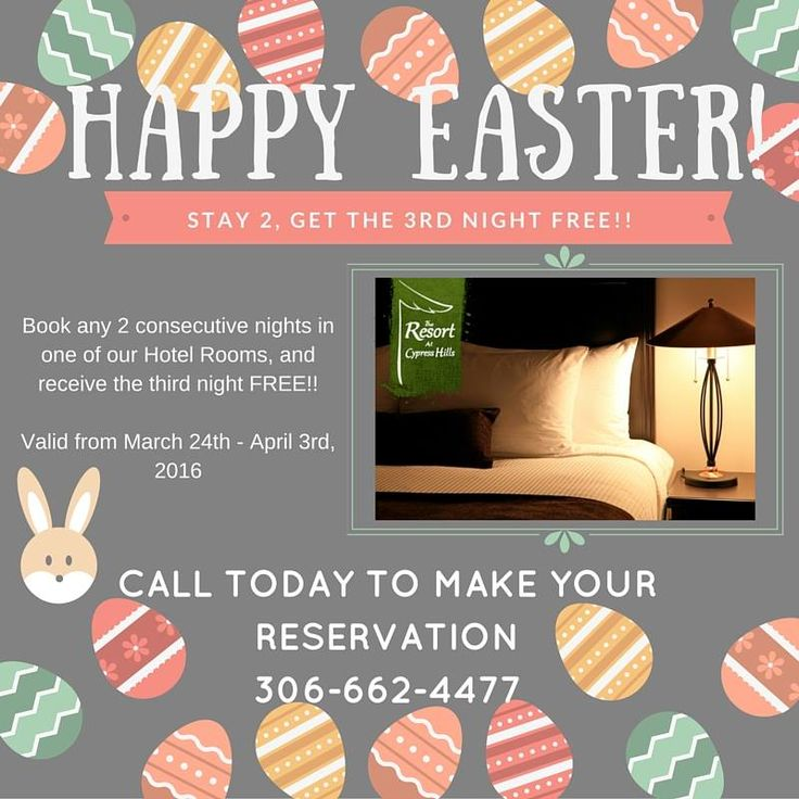 This Easter, book any two consecutive nights at The Resort at Cypress Hills and receive the third night free!