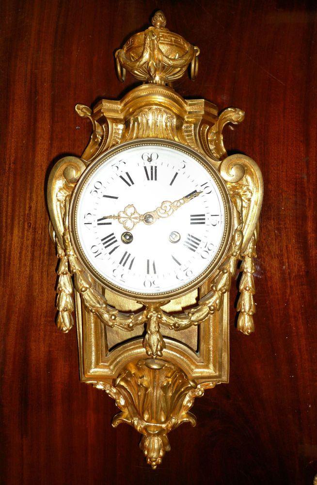 CARTELUHR LOUIS XVI 19.JH. SIGN. PICHON Paris Klassizismus Pendule Cartel clock