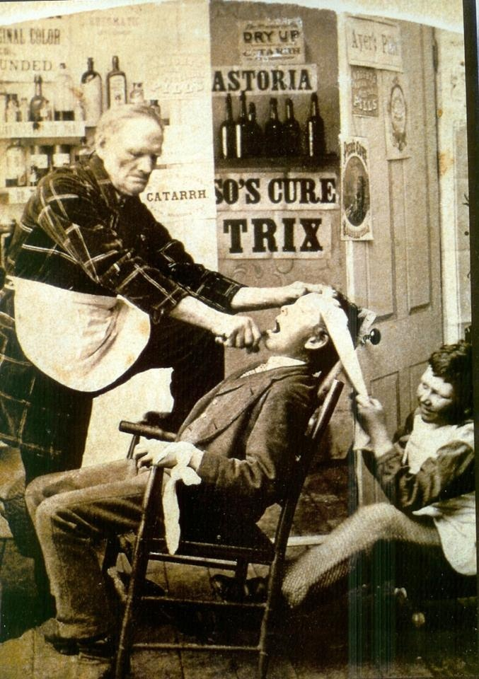 going to the dentist...boy, glad we have improved since this!!!