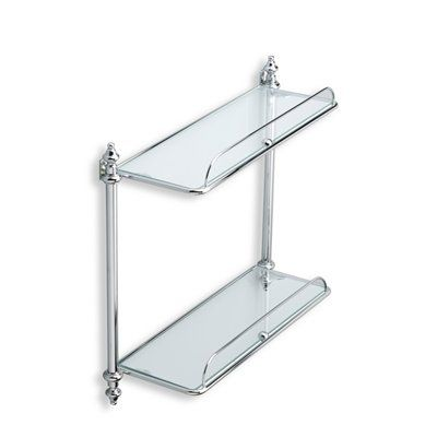 Nameeks EL694 Elite Double Glass Bathroom Shelf