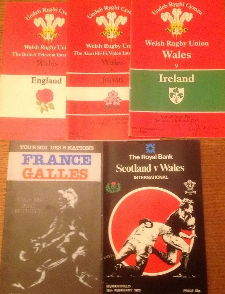 wales rugby union programmes 1983 from $4.29