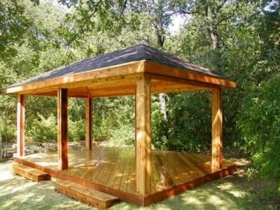Backyard Pavilion Designs a gazebo with an open design is much like a pavilion and its very easy Winding Outdoor Decks St Louis Decks Screened Porches Pergolas Gazebos And