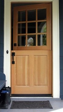 Dutch Entry Door Manufactured By Rogue Valley Door In Southern Oregon.  Solid Core Fir With