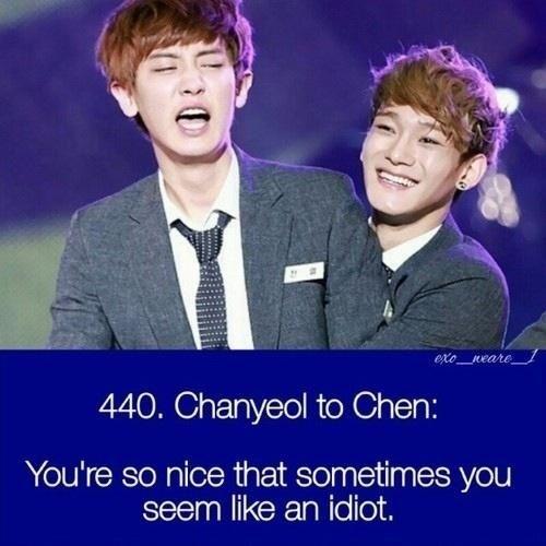 Haha chanyeol and chen Exo