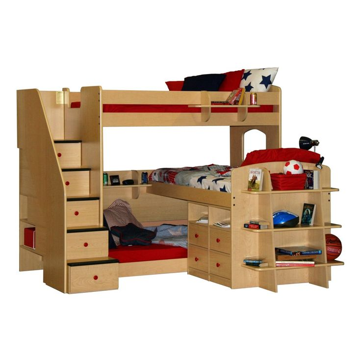 Triple Bunk Beds Bunk Bed With Desk Organization