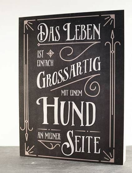 Retro-Schilder Hundefreund-Holzschild: Das Leben ist einfach großartig ...