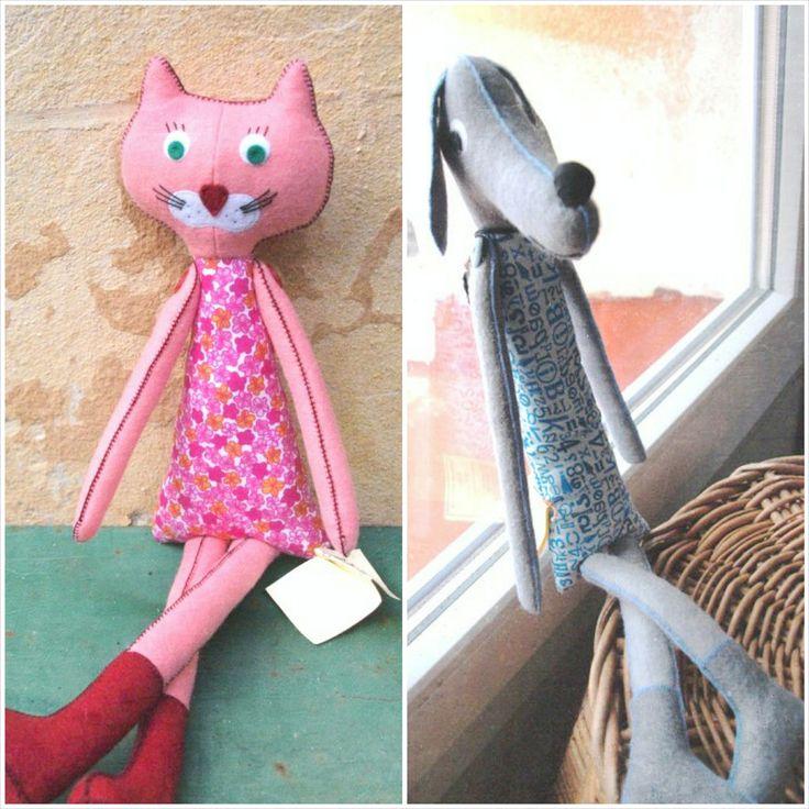 Pejsek a kočička z chráněné dílny Zahrada2000