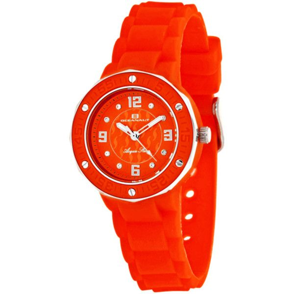 Women's Oceanaut Women's Acqua Star ($104) ❤ liked on Polyvore featuring jewelry, watches, jewelry & watches, red, women's watches, quartz movement watches, red dial watches, red star watches, oceanaut and star jewelry