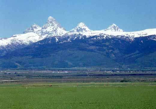 """Driggs, Idaho...this is on the reverse side (West side) of the Tetons. I was there for another farm equipment photo shoot and Mike joined me to travel afterwards. We liked it because there was a Patagonia outlet there and a restaurant named """"Mike's"""" which I understand is now closed. :("""
