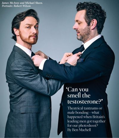 James McAvoy with Michael Sheen