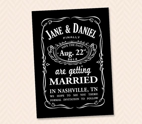 Hey, I found this really awesome Etsy listing at https://www.etsy.com/listing/188194422/jack-daniels-inspired-whiskey-wedding