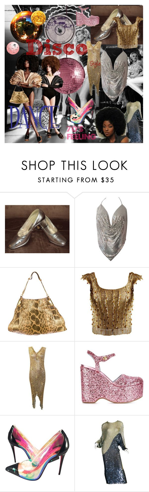 """Untitled #29"" by xaxa-szasza on Polyvore featuring Ødd., Gucci, Azzaro, Paco Rabanne, Chiara Ferragni, Christian Louboutin, ENRICO COVERI, women's clothing, women and female"