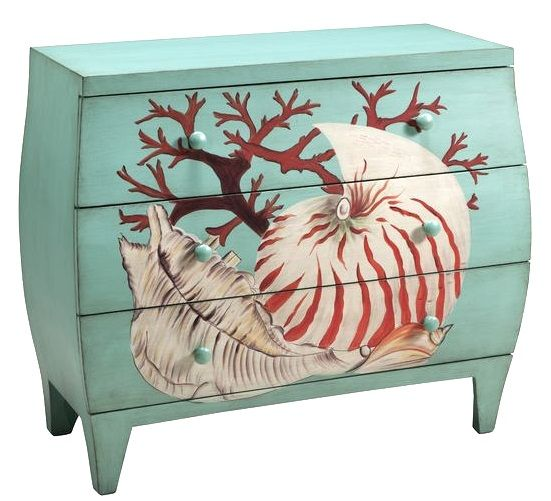 Art U0026 Function With Beach Furniture  Painted Dressers, Chests U0026 More