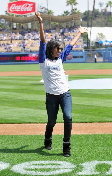 kerry washington at la dogers game  | angeles dodgers at dodger stadium on april 7 2013 in los angeles ...