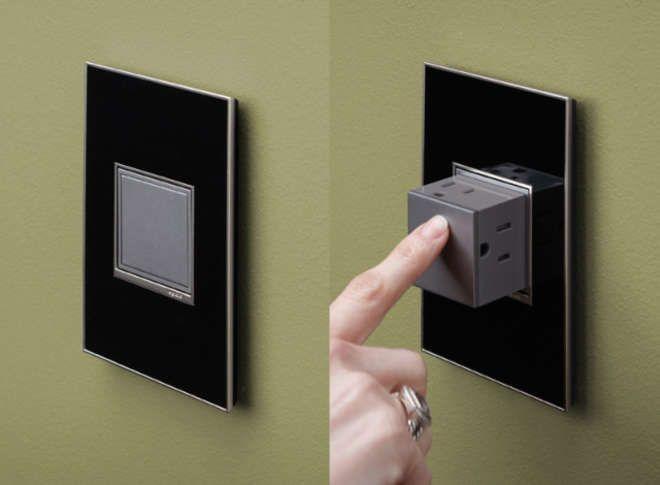 la prise lectrique en bouton poussoir une id e. Black Bedroom Furniture Sets. Home Design Ideas