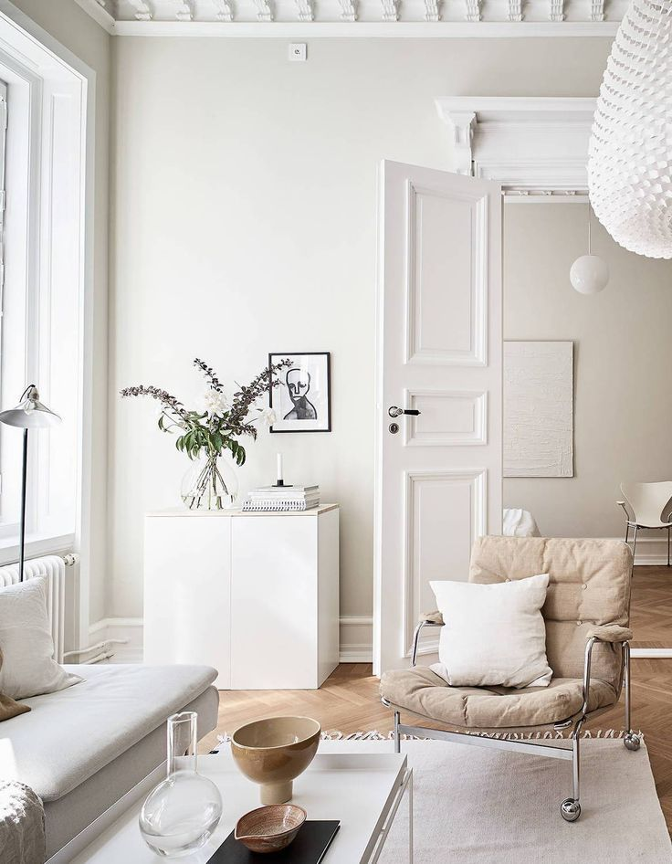 Living Room : Turn Of The Century Home In Beige Via Coco Lapine Design Blog