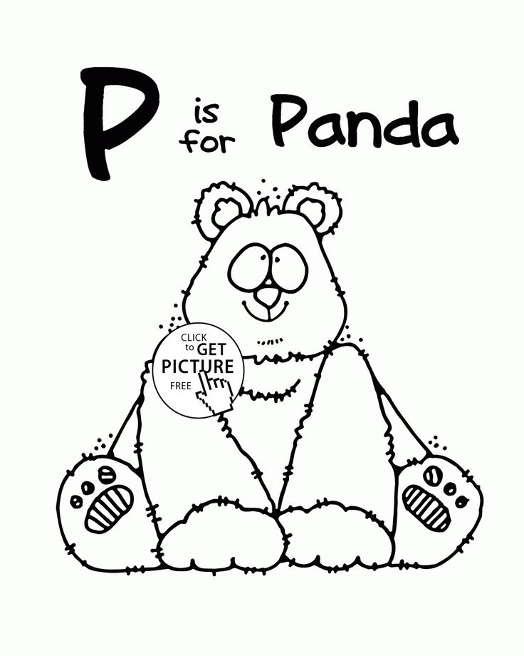 Letter P Alphabet Coloring Pages For Kids Words Printables Free Wuppsy