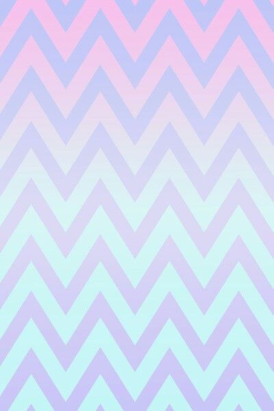 Pastel Colored Chevron Pattern Pink To Blue With Pale Purple Zig Zag