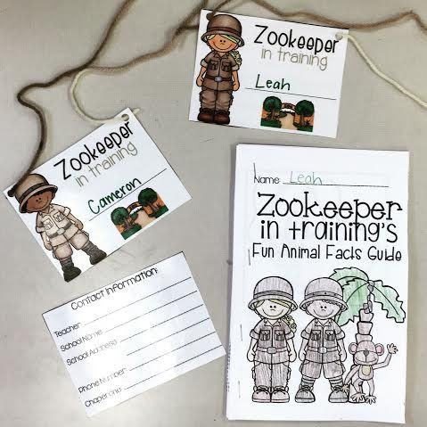 zoo field trip name tags and zookeeper in training fun