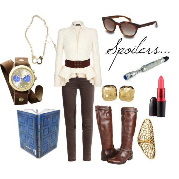 """""""River Song"""" by favourite-fictional-fashions on Polyvore i'm surprised by how much i like this"""