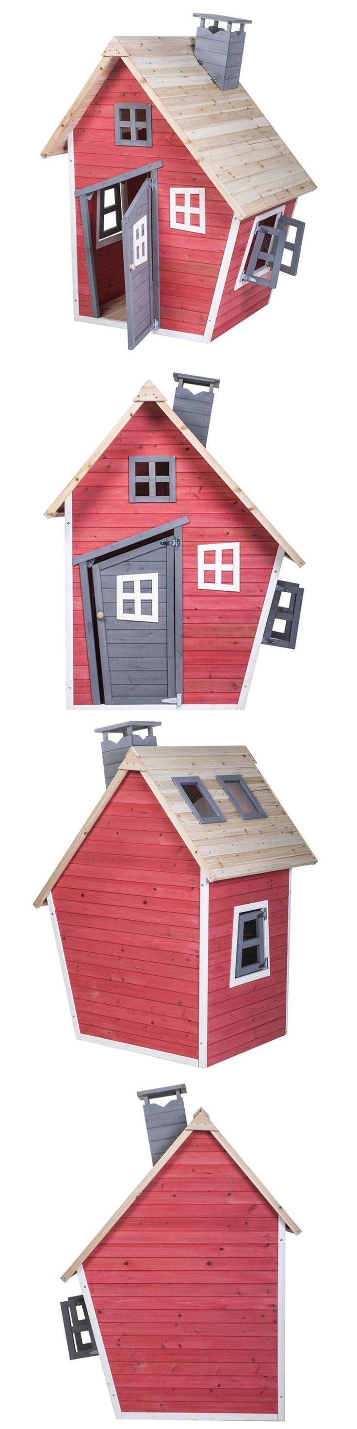 Permanent Playhouses 145995: Children S Wooden Playhouse Indoor Outdoor Playground Backyard Kids Playset -> BUY IT NOW ONLY: $421 on eBay! #childrensindoorplayhouse #kidsoutdoorplayhouse