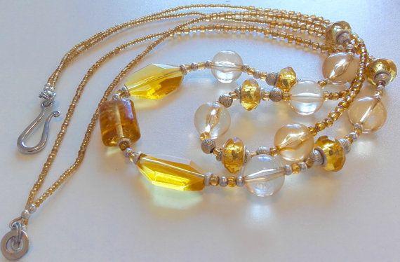 Multi strand bead necklace multi strand by JewelleryArtDPDesign