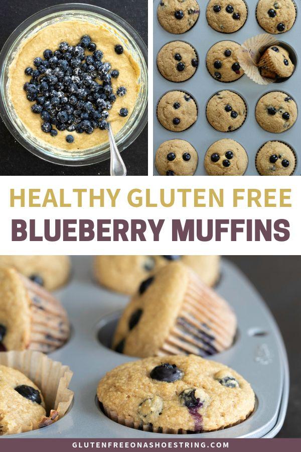 Healthy Blueberry Muffins (Gluten Free)