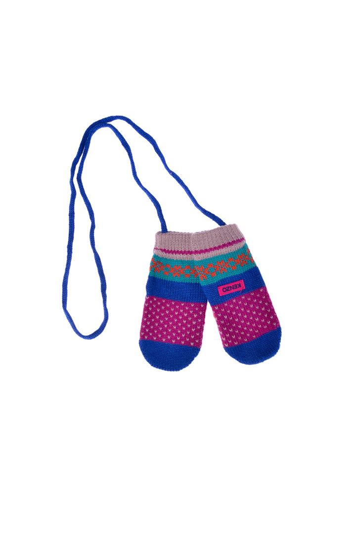 Kenzo Kids - разноцветные рукавицы на шнурке http://oneclub.ua/rukavicy-15845.html#product_option70