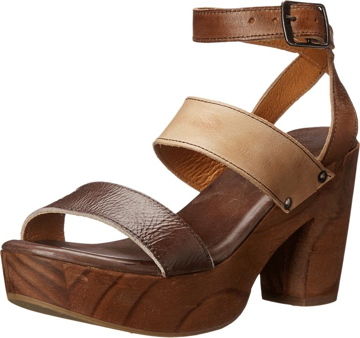 "bed stu Women's Sophie Heeled Sandal, Tan Sand Brown, 8.5 M US. Chrome free, vegetaable tanned leather upper. Handmade. Cushioned insole, rubber outsole for traction. Made in mexico. 4"" heel, 1.5"" platform."