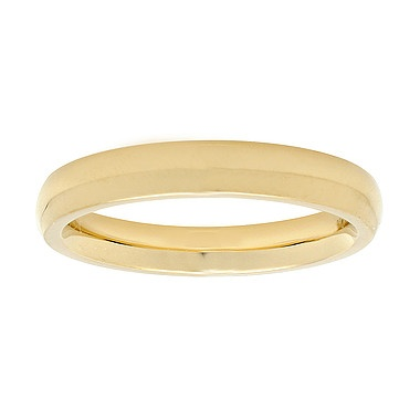 Plain Wedding Band for Her, in 18kt Yellow Gold