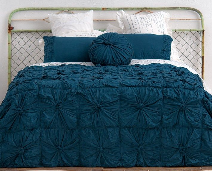 duvet covers king teal | Rosette Bedding in Petrol - Rosette - Quilts - At Home