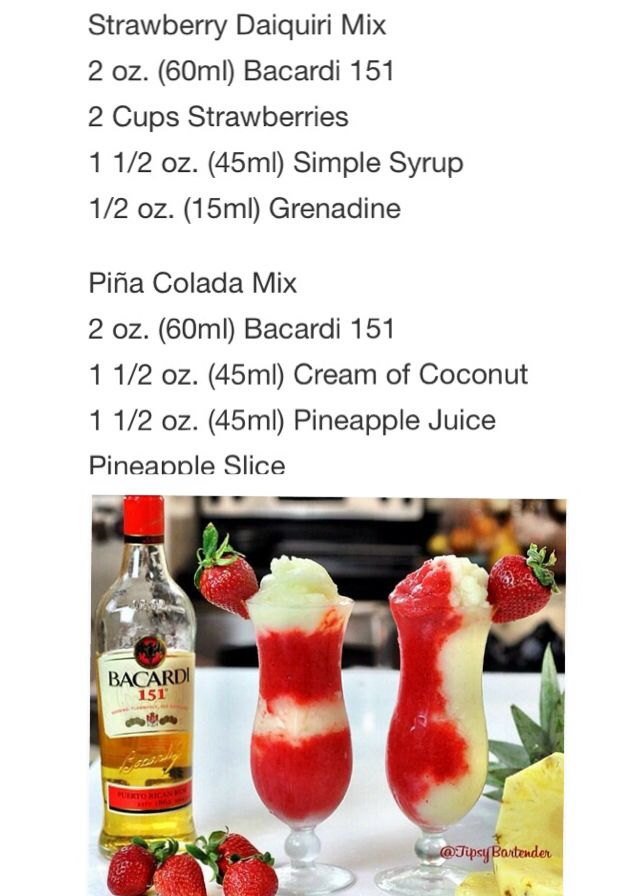 Strawberry Daiquiri Mix & Piña Colada Mix #Tipsybartender
