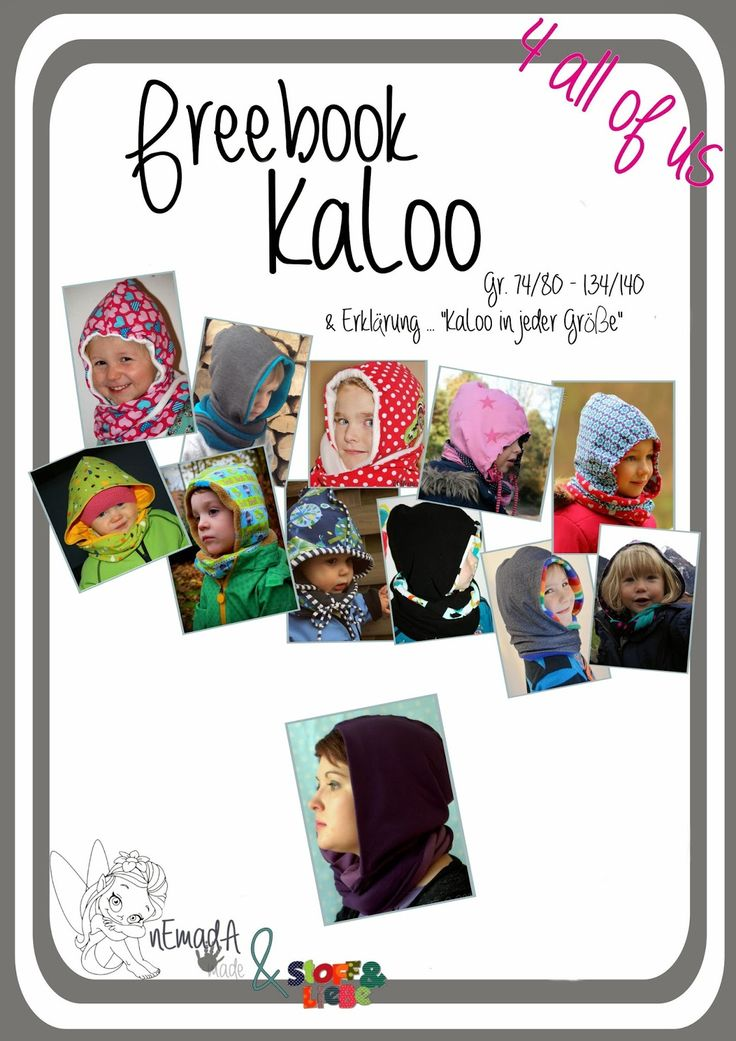 "Kapuzenloop, Kapuzenschal, Schal mit Mütze / Kapuze - Freebook ""KaLoo"", 74-140"