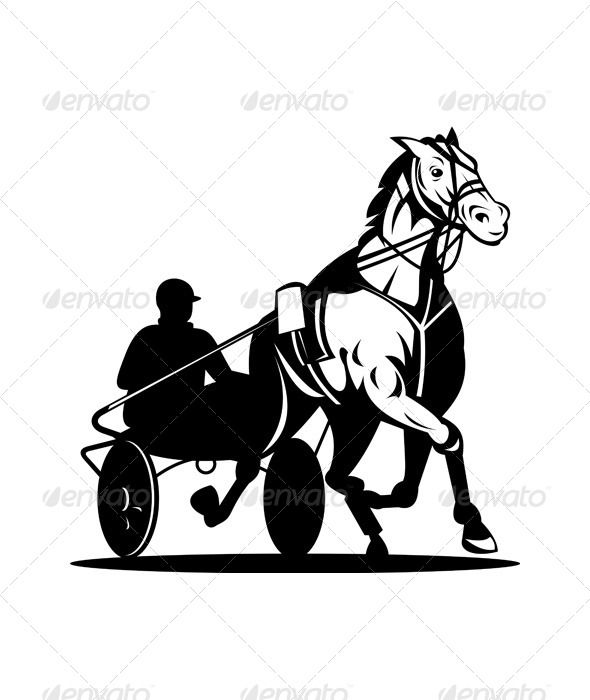 Horse and Jockey Harness Racing Retro  #GraphicRiver         Illustration of a horse and jockey harness racing on isolated white background done in retro style. Editable EPS8 (you can use any vector program) and JPEG (can edit in any graphic editor) files are included.     Created: 21July13 GraphicsFilesIncluded: JPGImage #VectorEPS Layered: No MinimumAdobeCSVersion: CS Tags: Equestrian #animal #cart #equine #harnessracing #horse #illustration #isolated #jockey #race #racing #retro #running…