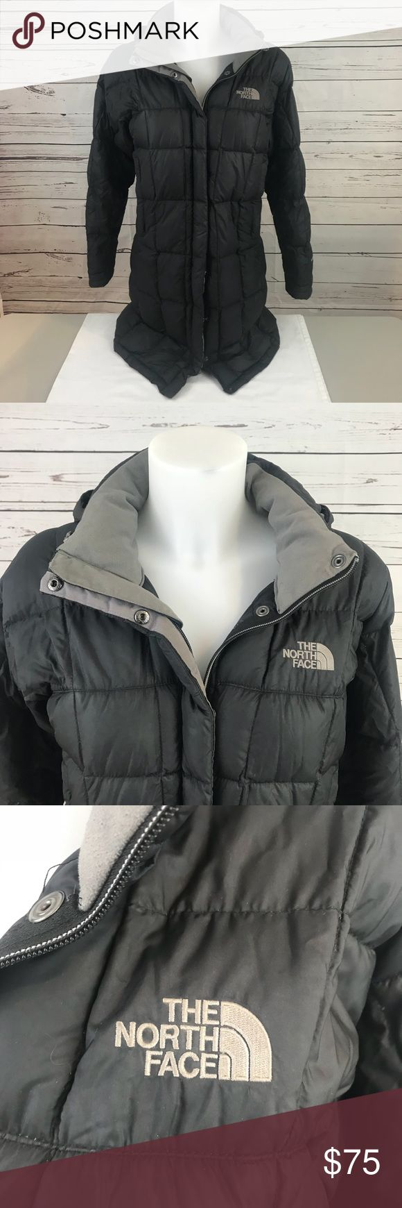 North Face Winter Coat North Face Coat, Women's size Small. Has plenty of life left, but zipper does have some fraying. Will still zip, but it may take a couple try's. All buttons on the front work and both pockets are without holes and zipper works on them. The North Face Jackets & Coats