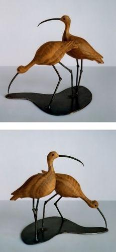 wooden bird sculpture | Bruno Groth > Sculptures > Wood > Bird and Animals