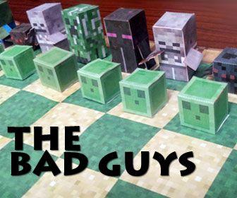 Minecraft Papercraft Chess