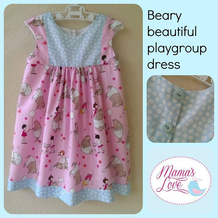 Handmade by Mamas Love Childrens Clothing and accessories OOAK Playgroup dress in size 2