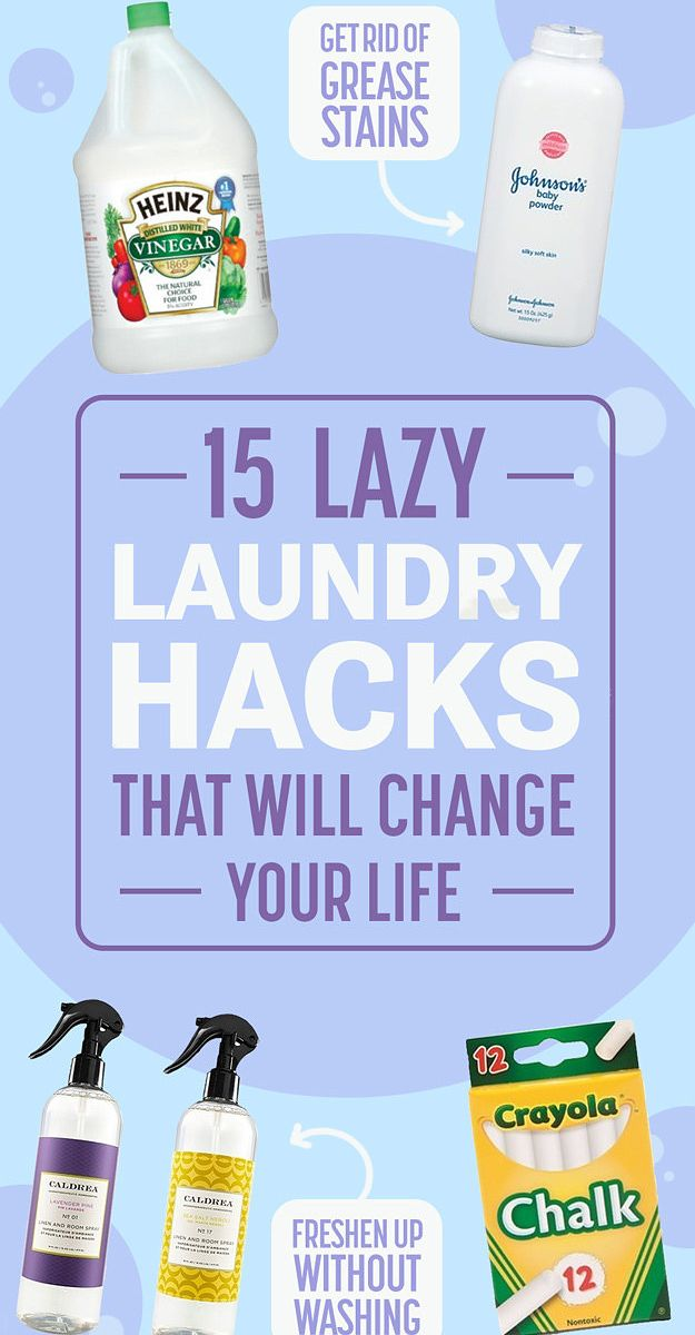 15 Lazy Girl Laundry Hacks That Will Change Your Life | Buzzfeed #lifehacks #cleaning