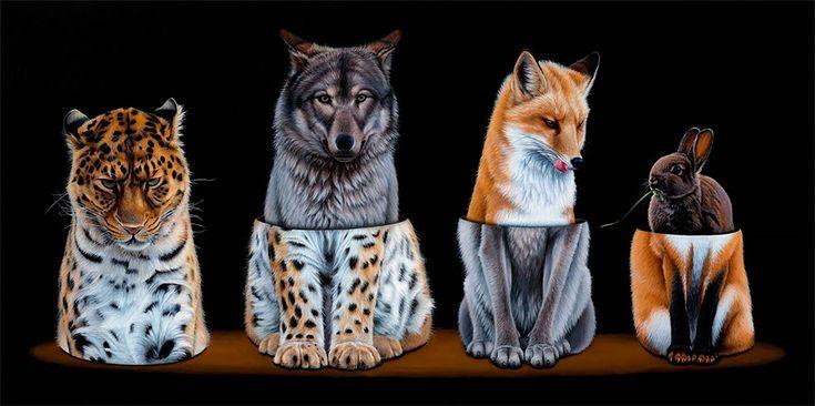 Surreal Animal Illustration by Jacub Gagnon – Fubiz Media