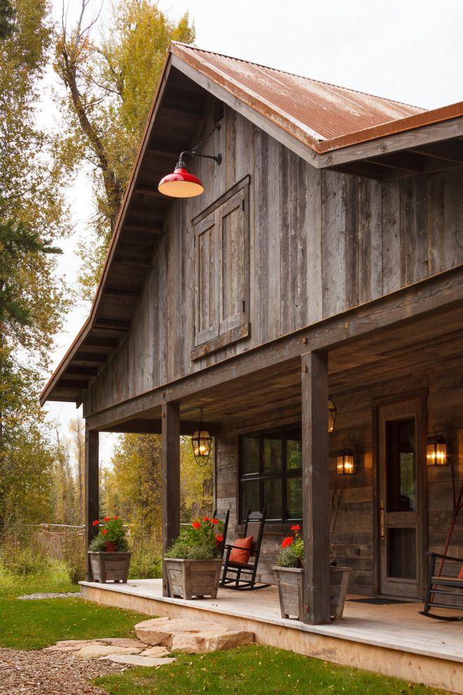 Old Barn Wood For Sale With Rustic Exterior And Accessory Building Bonnet Roof Corrugated Metal Roof F Barn Style House Barn House Plans Mountain Home Exterior
