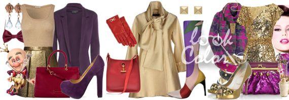 Фиолетово золотое в одежде
