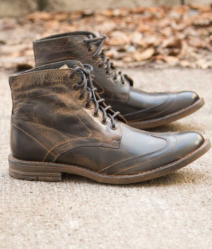 Roan Outlaw Boot - Men's Shoes in Black Frida Rust BFS   Buckle